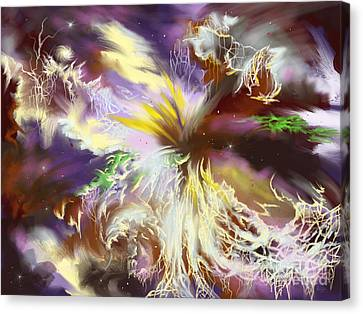 Canvas Print featuring the digital art The Flowering Of The Cosmos by Amyla Silverflame