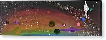 Cosmic Play Canvas Print by Susy Guzman