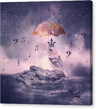 Cosmic Rain Canvas Print