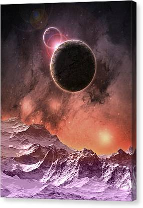 Cosmic Range Canvas Print by Phil Perkins