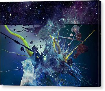 Canvas Print featuring the photograph Cosmic Resonance No 1 by Robert G Kernodle