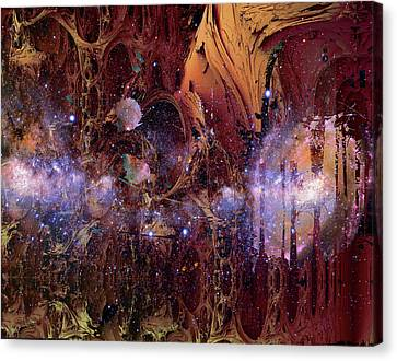 Canvas Print featuring the photograph Cosmic Resonance No 2 by Robert G Kernodle