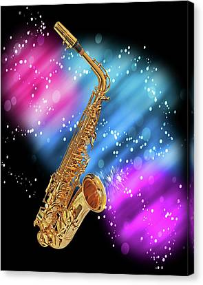 Concert Images Canvas Print - Cosmic Sax by Gill Billington
