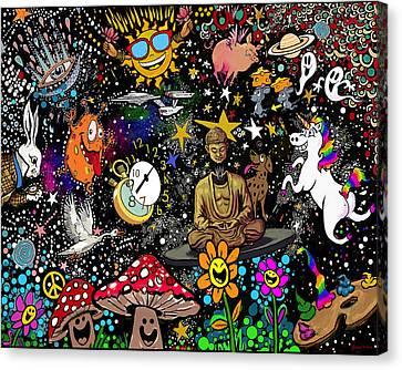 Cosmic Smiles Canvas Print