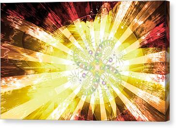 Cosmic Solar Flower Fern Flare 2 Canvas Print