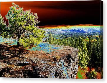 Cosmic Spokane Rimrock Canvas Print by Ben Upham III