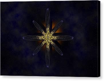 Cosmic Star In A Star Field Canvas Print by Pelo Blanco Photo