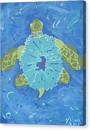 Cosmic Turtle Canvas Print by Yshua The Painter