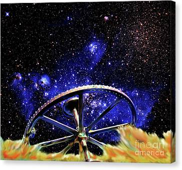 Canvas Print featuring the photograph Cosmic Wheel by Jim and Emily Bush