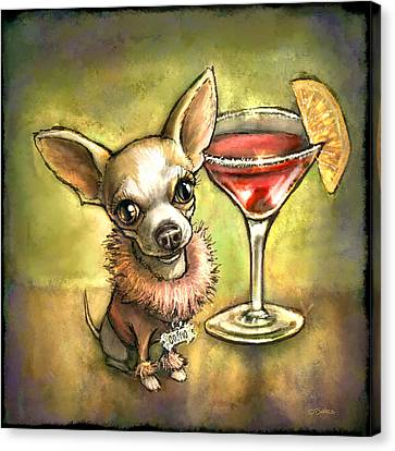 Chihuahua Canvas Print - Cosmo by Sean ODaniels