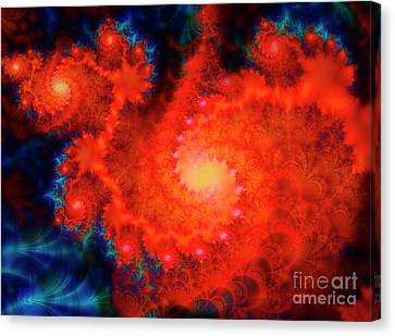 Cosmos Space Themed Abstract Fractal Art Canvas Print