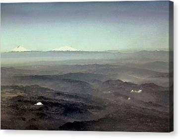 Canvas Print featuring the digital art Costa Rica Aerial by Ellen Barron O'Reilly