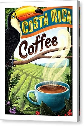 Toucan Postcard Canvas Print - Costa Rica, Toucan, Coffee by Long Shot