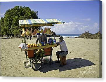 Costa Rica Vendor Canvas Print by Madeline Ellis