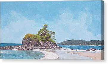 Canvas Print featuring the painting Costa Rican Coast by Robert Decker