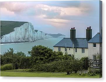 Seaford Canvas Print - Costguard Cottages Seven Sisters - England by Joana Kruse