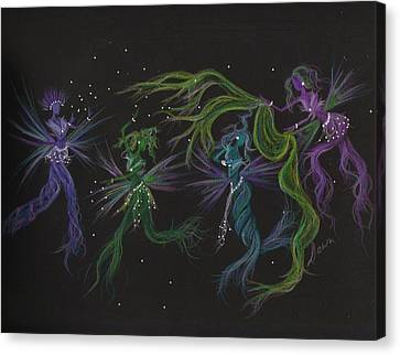 Canvas Print featuring the drawing Costume Malfunction by Dawn Fairies