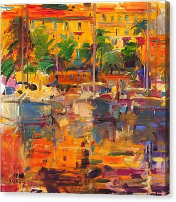 Cote D'azur Reflections Canvas Print by Peter Graham