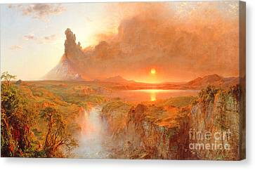 Setting Canvas Print - Cotopaxi by Frederic Edwin Church
