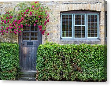 Canvas Print featuring the photograph Cotswolds Cottage Home by Brian Jannsen
