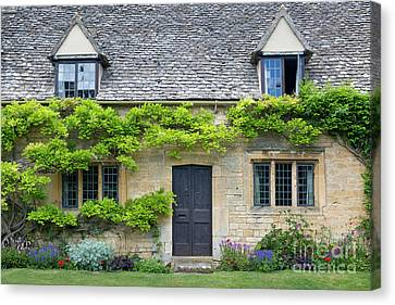 Canvas Print featuring the photograph Cotswolds Cottage Home II by Brian Jannsen