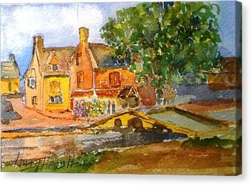 Cotswolds Town Study Canvas Print by Larry Hamilton