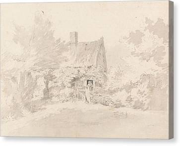 Cottages Canvas Print - Cottage Among Trees by John Constable