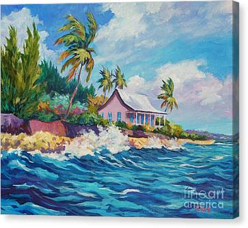 Cottage At Prospect Reef Canvas Print by John Clark