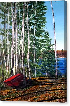 Cottage Country Canvas Print by Marilyn McNish