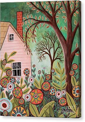 Cottage Garden 1 Canvas Print by Karla Gerard