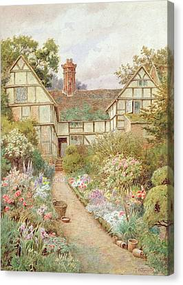 Cottage Garden Canvas Print by Thomas Nicholson Tyndale