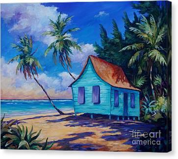 Beach Cottage Canvas Print by John Clark