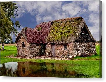 Cottage In The Highlands Canvas Print by Anthony Dezenzio