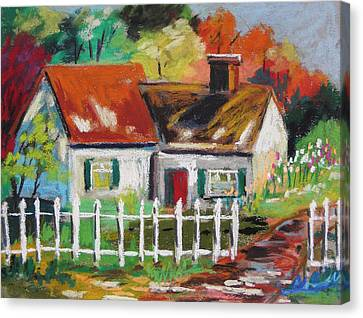 Cottage In The Sun Canvas Print by John Williams