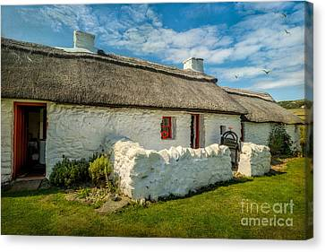 Cottage In Wales Canvas Print by Adrian Evans