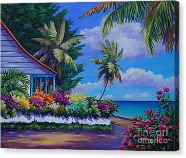 Cottage Near Eden Rock Canvas Print by John Clark