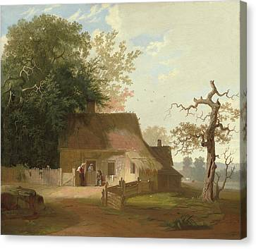 Cottage Scenery Canvas Print by George Caleb Bingham