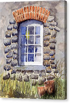 Cottage Window Canvas Print by Mike Lester