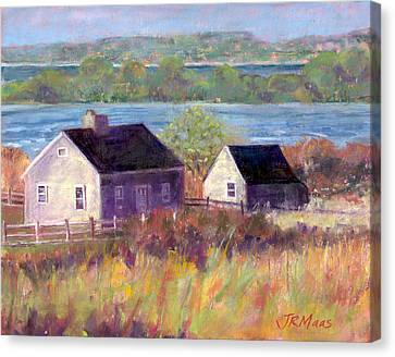 Cottages By The Bay Canvas Print