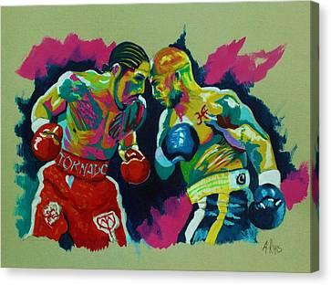 Cotto Vs Margarito Canvas Print
