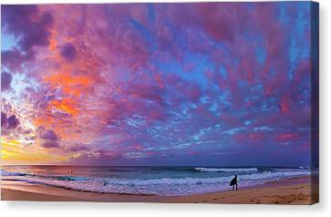 Cotton Candy Cumulous Canvas Print by Sean Davey