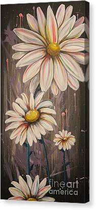 Cotton Candy Daisies Canvas Print