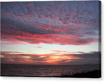 Cotton Candy Sky Canvas Print by Sierra Vance