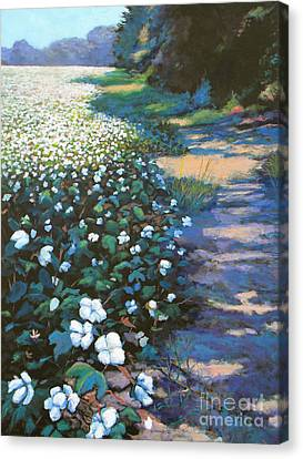 Cotton Field Canvas Print by Jeanette Jarmon