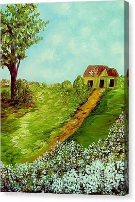 Cotton On A Cloudy Day Canvas Print