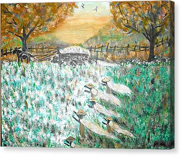 Cotton Pickers Canvas Print by BJ Abrams