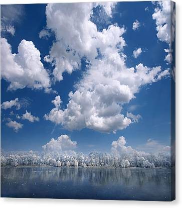 Cotton Sky Canvas Print by Philippe Sainte-Laudy
