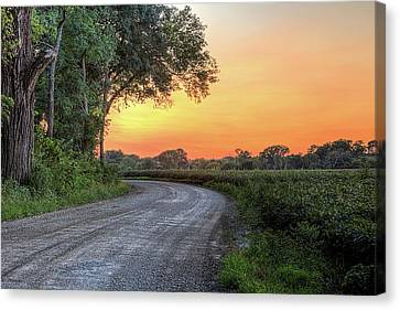 Canvas Print featuring the photograph Cottonwood Sunset by JC Findley