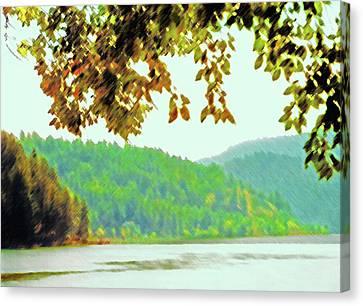 Couer D' Alene Lake 1 Canvas Print by Steve Ohlsen