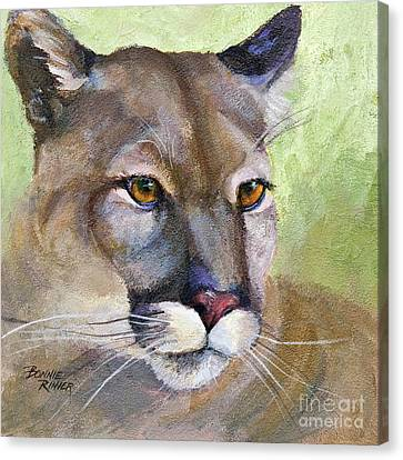 Canvas Print featuring the painting Cougar 2 by Bonnie Rinier